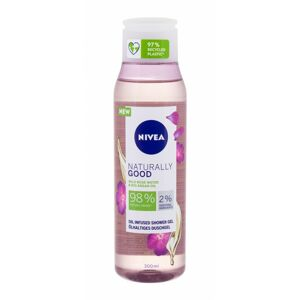 Nivea Naturally Good sprchovací gél Wild Rose 300 ml