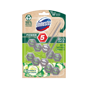 Domestos Power 5 Eco Pack Cucumber & fresh leaves 2x55g